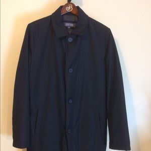 Mens Kenneth Cole Button Front Black Jacket Medium